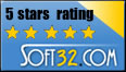 soft32 5 stars award for Email Sentinel Pro